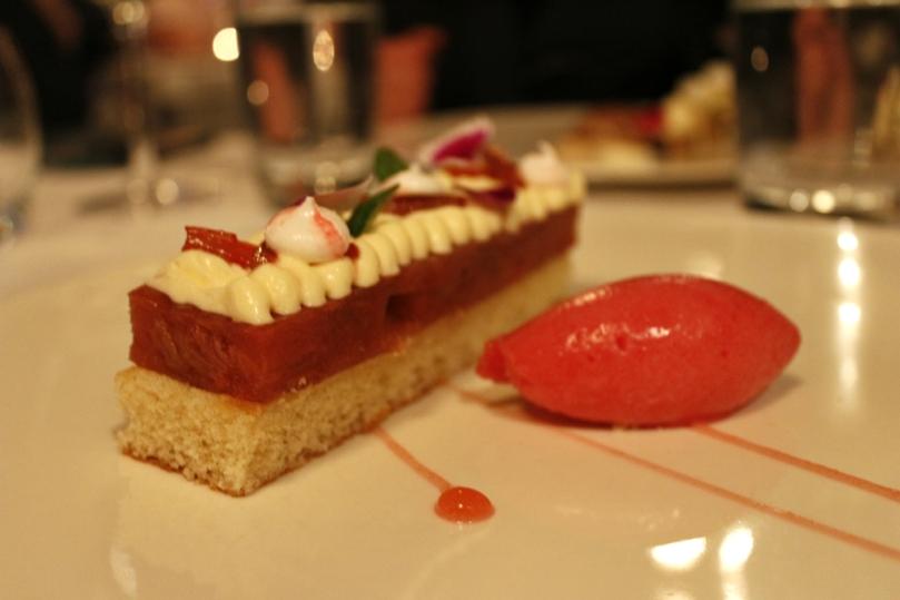 Rhubarb parfait